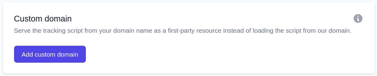 Serve the script from your domain as a first-party connection